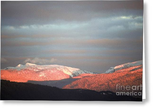 Sunset On The Monashees Greeting Card