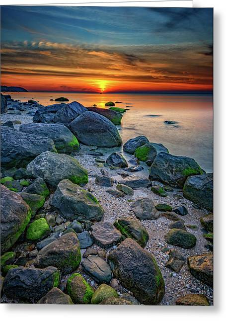 Sunset On The North Shore Of Long Island Greeting Card