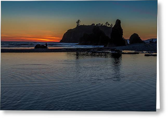 Sunset On The Oregon Coast Greeting Card
