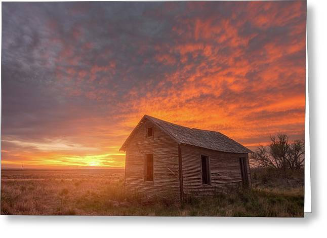 Sunset On The Prairie  Greeting Card by Darren White