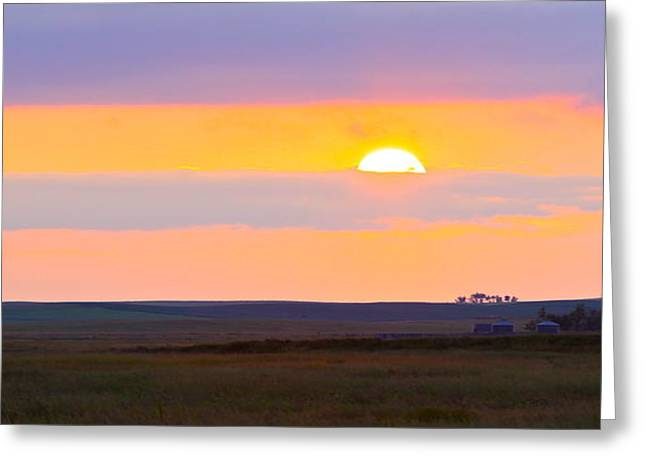 Sunset On The Reservation Greeting Card by Kate Purdy