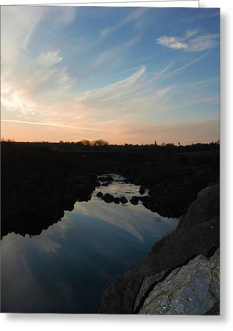 Sunset On The River Greeting Card by Brigid Nelson