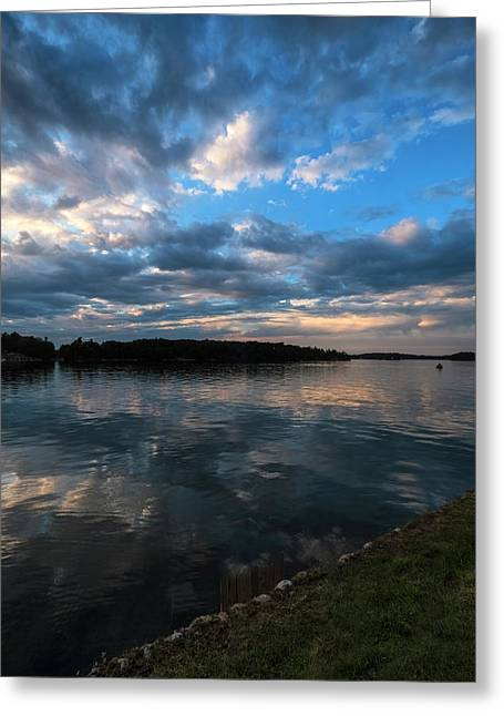 Sunset On The River Greeting Card