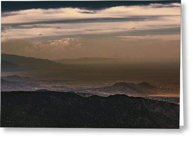 Sunset On The Sandias Greeting Card