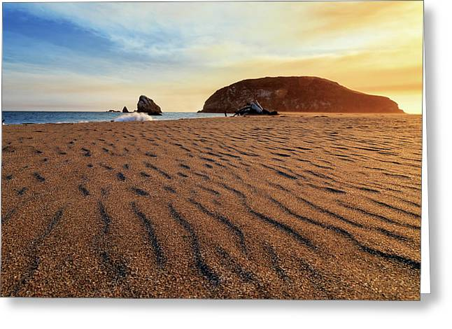 Greeting Card featuring the photograph Sunset On The Sands Of Brookings by James Eddy