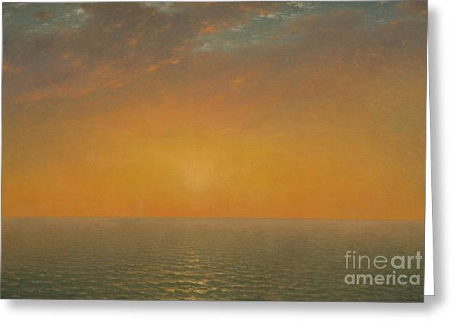 Sunset On The Sea, 1872 Greeting Card