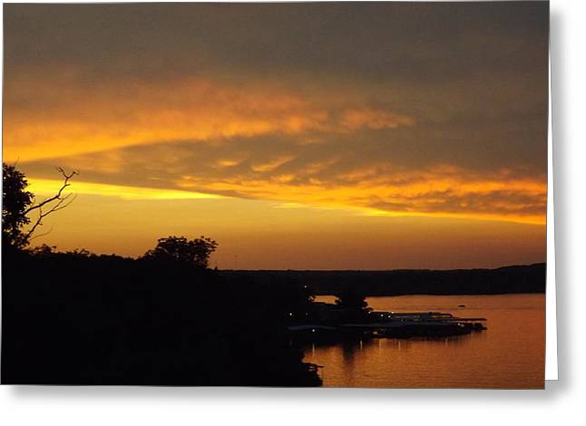 Sunset On The Shore  Greeting Card