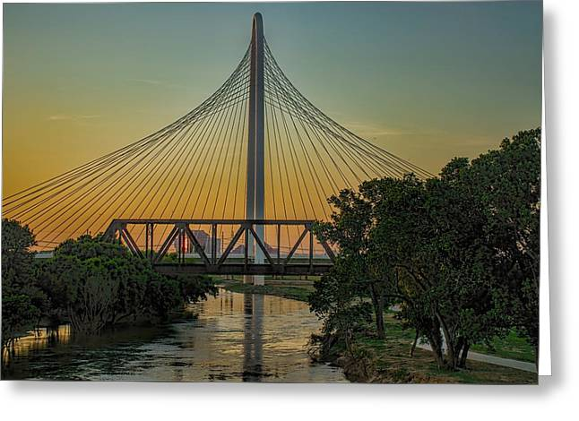 Sunset On The Trinity Greeting Card by Diana Mary Sharpton
