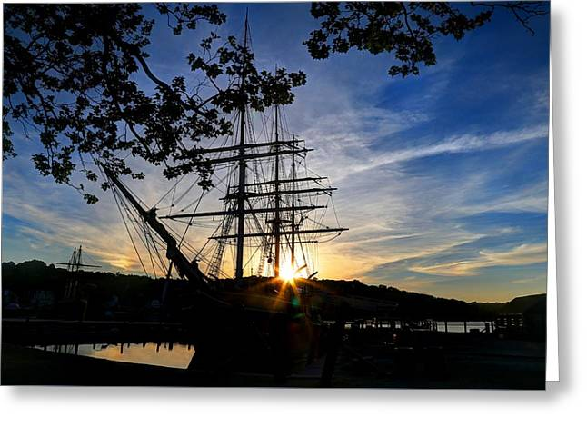 Sunset On The Whalers Greeting Card
