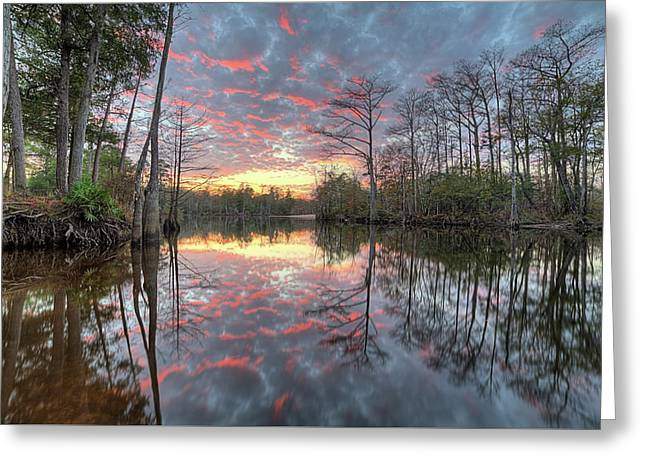 Sunset On The Yellow River Greeting Card by JC Findley