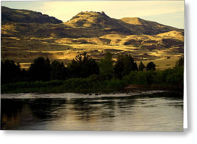 Sunset On The Yellowstone Greeting Card by Marty Koch