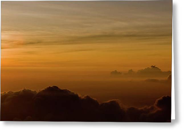 Sunset On Top Of Haleakala Greeting Card by Denis Dore