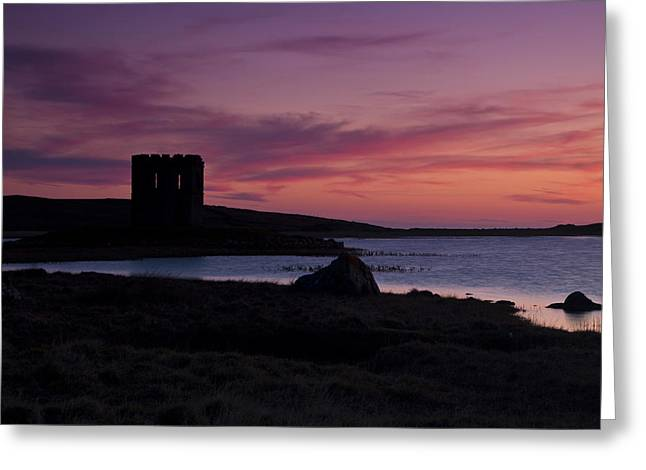 Sunset On Uist Greeting Card by Gabor Pozsgai