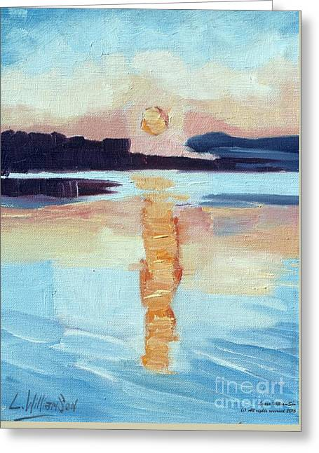 Sunset On Vancouver Island Greeting Card