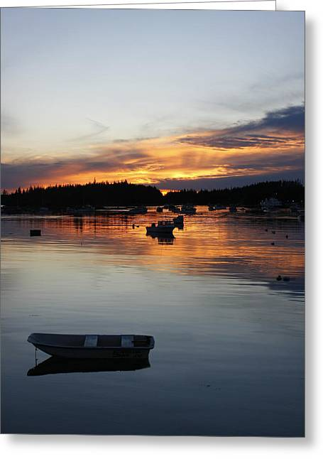 Sunset On Vinalhaven Maine Greeting Card