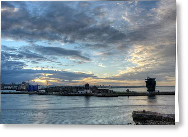 Sunset Over Aberdeen Greeting Card