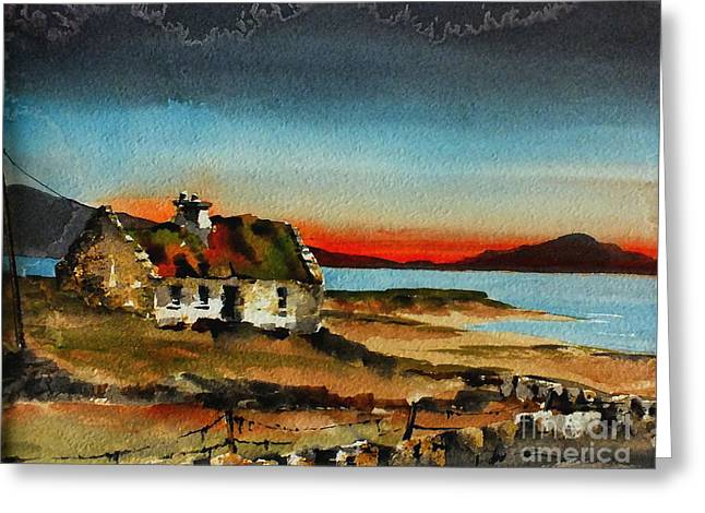 Sunset Over Ardra, Donegal....vb707 Greeting Card