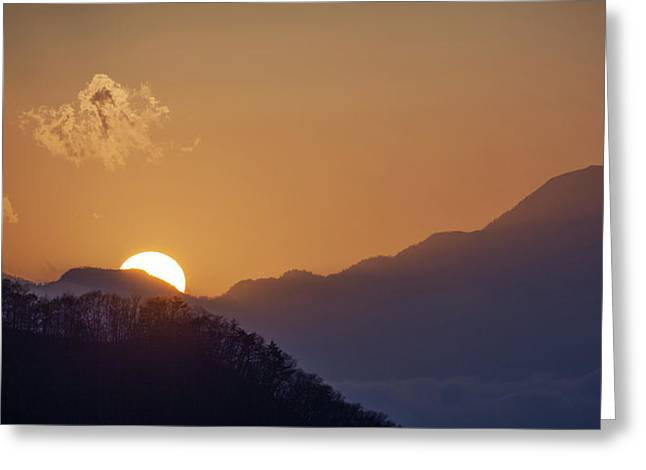 Greeting Card featuring the photograph Sunset Over Asia  by Rikk Flohr