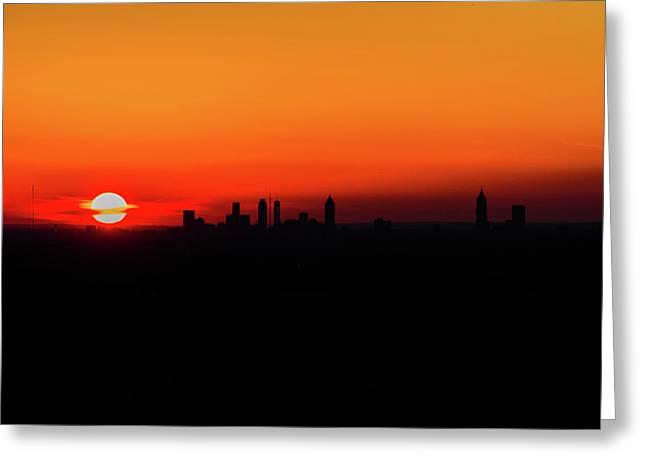Sunset Over Atlanta Greeting Card