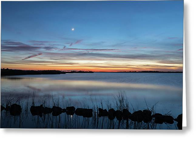 Sunset Over Back Bay Greeting Card