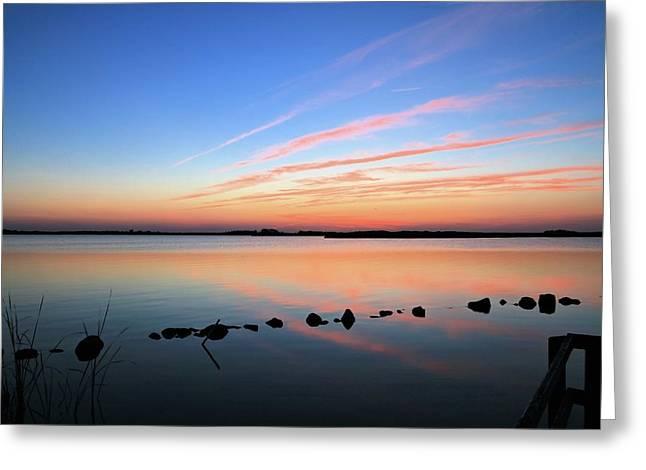 Sunset Over Back Bay National Wildlife Refuge Greeting Card