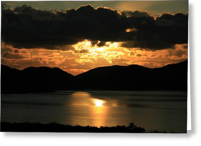 Sunset Over Ballinskelligs Bay Greeting Card