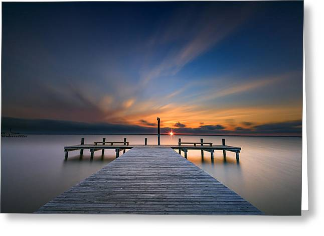 Sunset Over Barnegat Bay Greeting Card