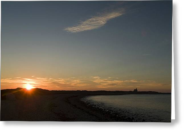 Sunset Scenes. Greeting Cards - Sunset Over Block Island Near The North Greeting Card by Todd Gipstein