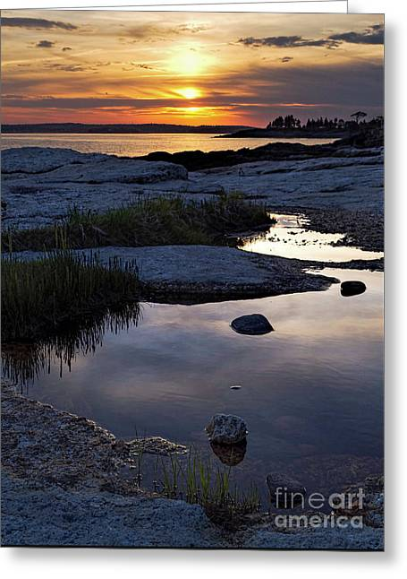 Sunset Over Boothbay Harbor Maine  -23095-23099 Greeting Card