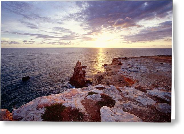 Sunset Over Cabo Rojo Puerto Rico Greeting Card by George Oze