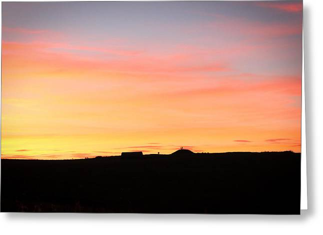 Sunset Over Cairnpapple Greeting Card by RKAB Works