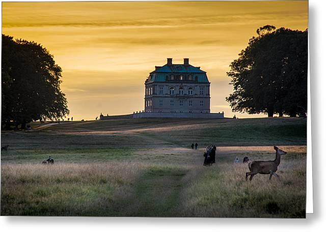 Sunset Over Castle Eremitage Greeting Card