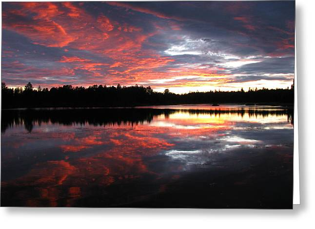 Sunset Over Caswell Lake Greeting Card
