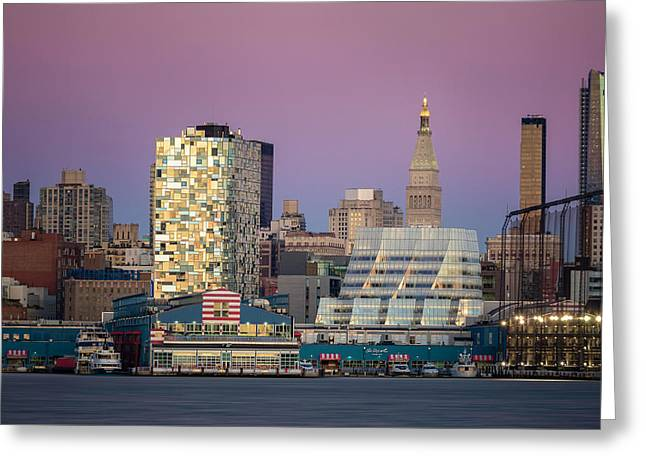 Greeting Card featuring the photograph Sunset Over Chelsea by Eduard Moldoveanu