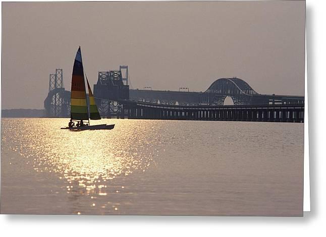Sunset Over Chesapeake Greeting Card