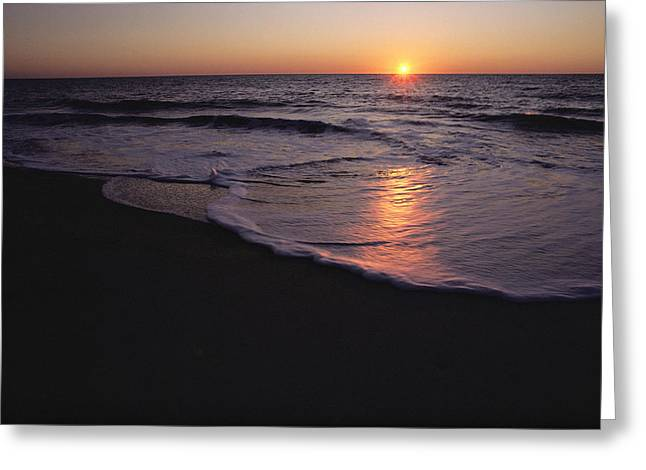 Sunset Over Chincoteague, Virginia Greeting Card