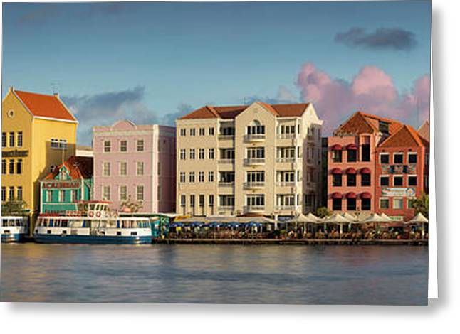 Sunset Over Curacao Greeting Card by Brian Jannsen
