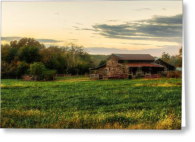 Greeting Card featuring the photograph Sunset Over Dogwood Ridge by Mark Guinn