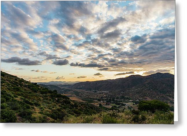 Sunset Over El Monte Valley Greeting Card
