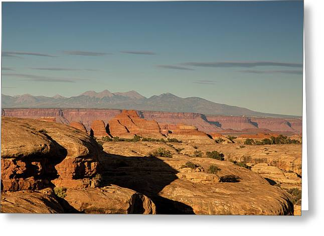 Sunset Over Elephant Canyon Greeting Card by Kunal Mehra