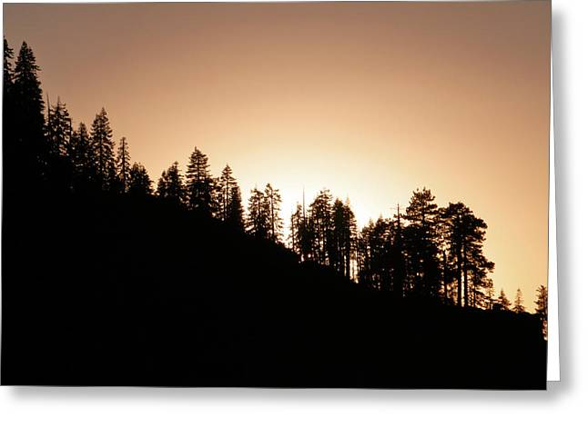Sunset Over Glacier Point Greeting Card