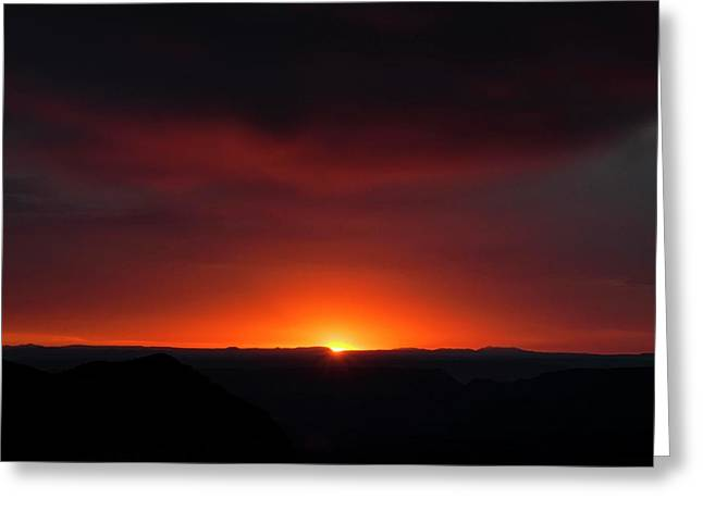 Sunset Over Grand Canyon Greeting Card