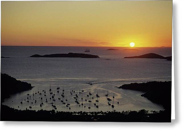 Sunset Over Great Cruz Bay Greeting Card by Don Kreuter