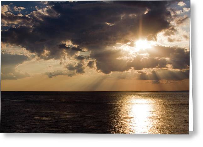 Sunset Over Gulf Of Mexico Greeting Card
