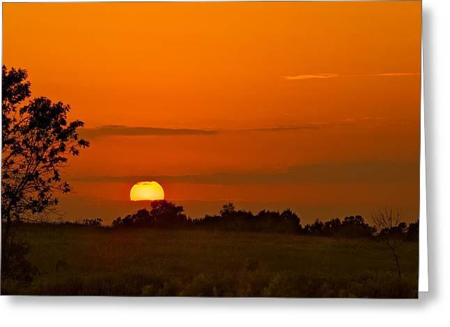 Sunset Over Horicon Marsh Greeting Card by Steve Gadomski