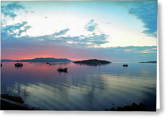 Sunset Over Iona Greeting Card by Jan W Faul