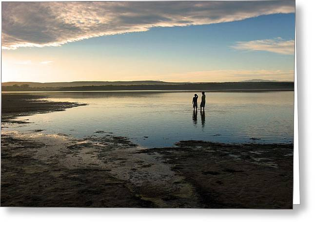 Greeting Card featuring the photograph Sunset Over Kabeljauws by Riana Van Staden