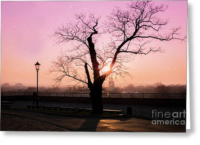 Greeting Card featuring the photograph Sunset Over Krakow by Juli Scalzi