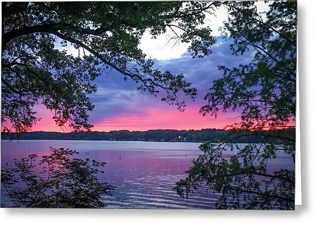 Sunset Over Lake Cherokee Greeting Card