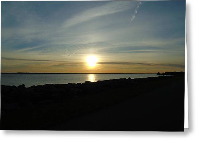 Sunset Over Lake Erie Greeting Card